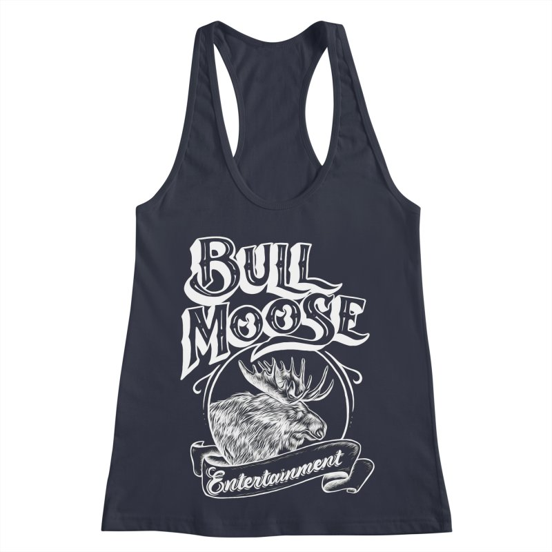 Bull Moose Logo - For Darks Women's Racerback Tank by thebullmoose's Artist Shop