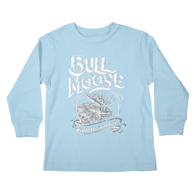 Bull Moose Logo - For Darks Kids Longsleeve T-Shirt by thebullmoose's Artist Shop