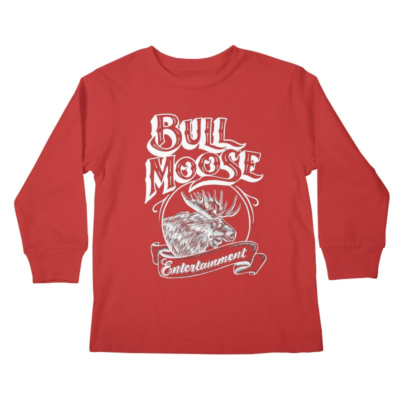 Bull Moose Logo - For Darks Kids Longsleeve T-Shirt by thebullmoose's Artist Shop