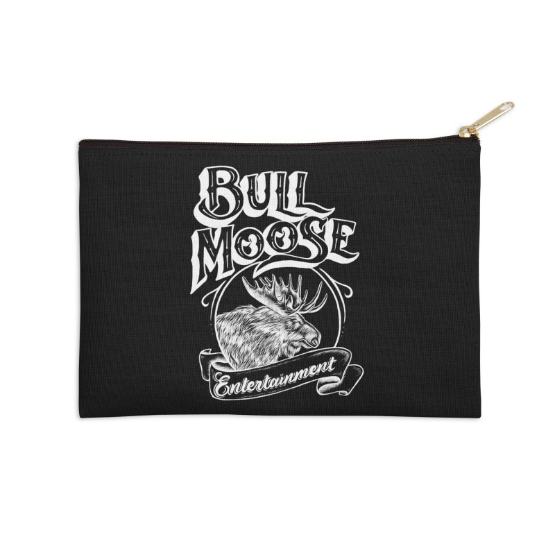 Bull Moose Logo - For Darks Accessories Zip Pouch by thebullmoose's Artist Shop