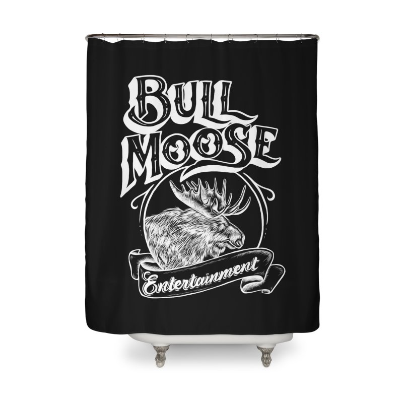 Bull Moose Logo - For Darks Home Shower Curtain by thebullmoose's Artist Shop