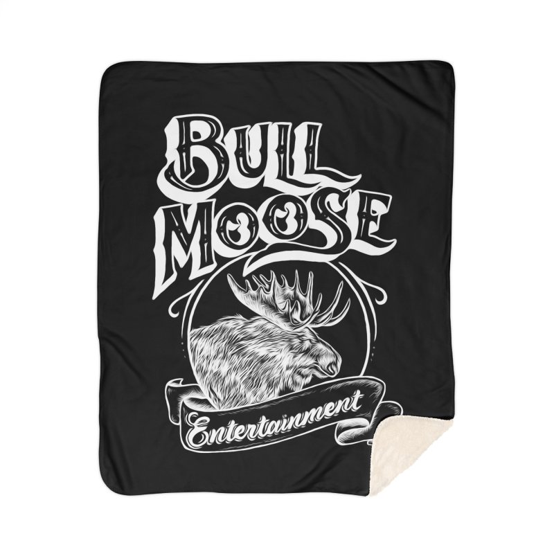 Bull Moose Logo - For Darks Home Sherpa Blanket Blanket by thebullmoose's Artist Shop