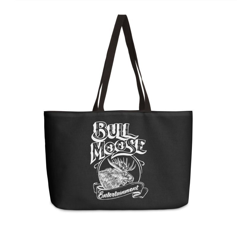 Bull Moose Logo - For Darks Accessories Weekender Bag Bag by thebullmoose's Artist Shop