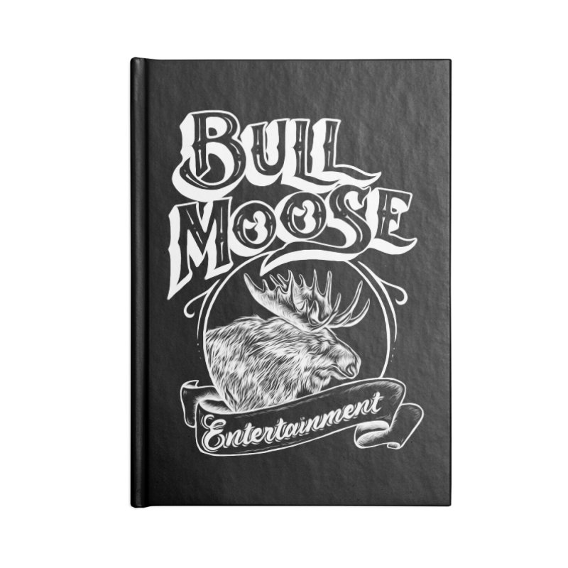 Bull Moose Logo - For Darks Accessories Lined Journal Notebook by thebullmoose's Artist Shop