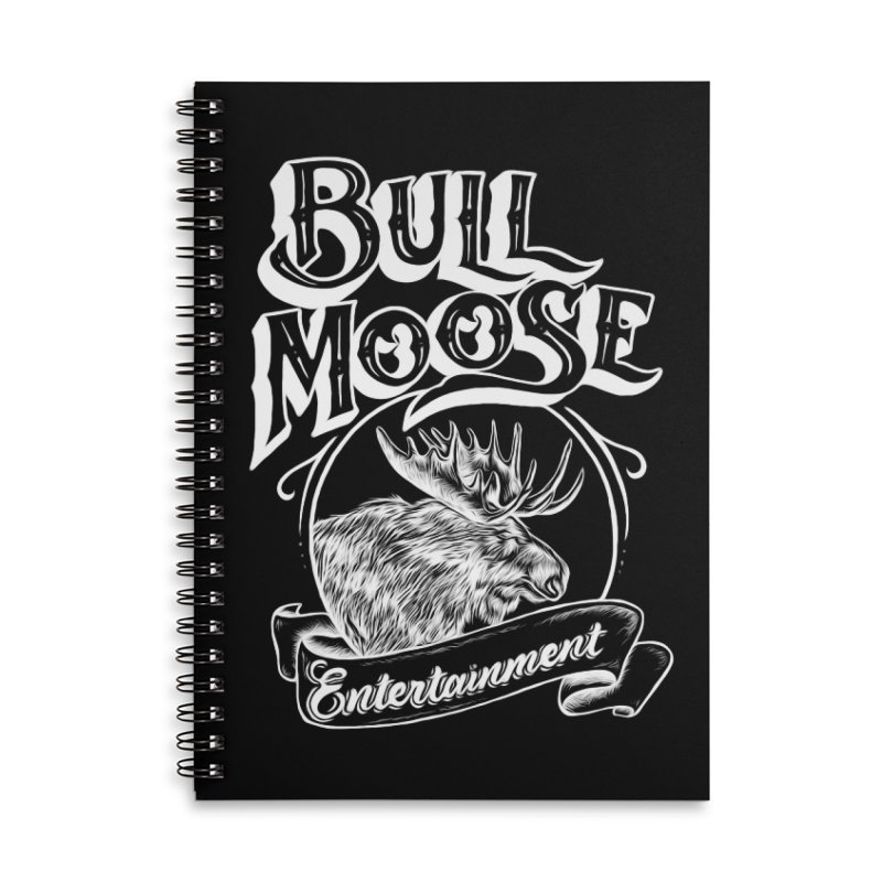 Bull Moose Logo - For Darks Accessories Lined Spiral Notebook by thebullmoose's Artist Shop