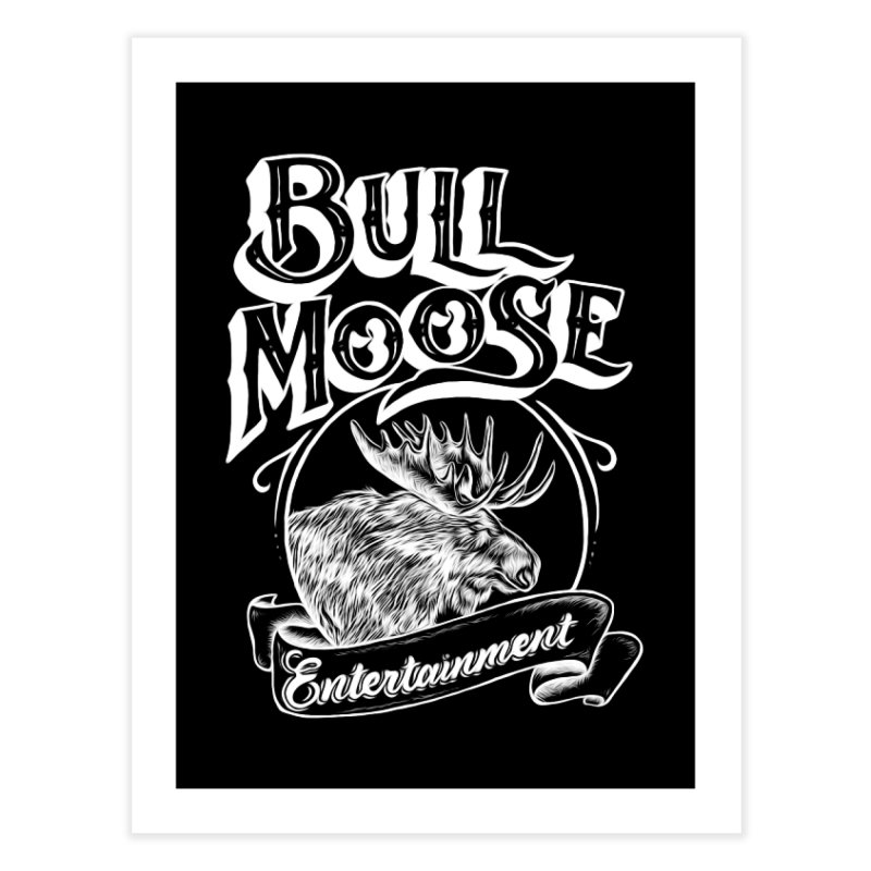 Bull Moose Logo - For Darks Home Fine Art Print by thebullmoose's Artist Shop