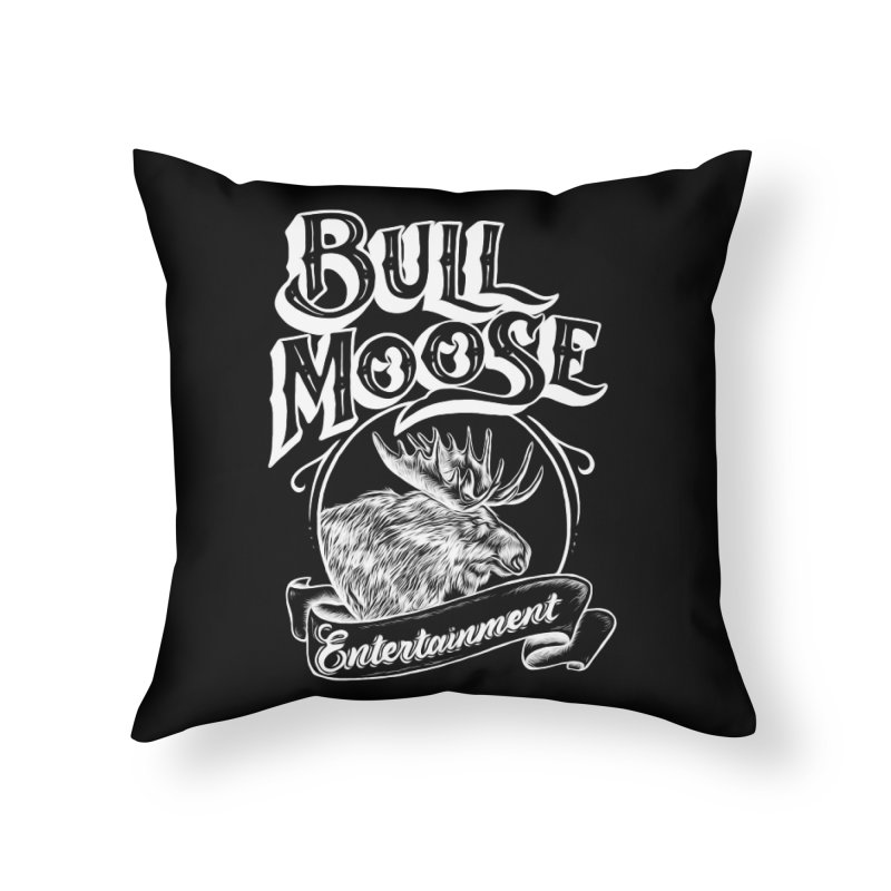 Bull Moose Logo - For Darks Home Throw Pillow by thebullmoose's Artist Shop