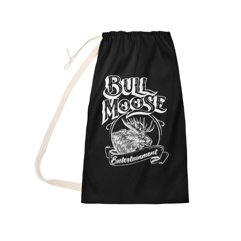 Bull Moose Logo - For Darks Accessories Laundry Bag Bag by thebullmoose's Artist Shop