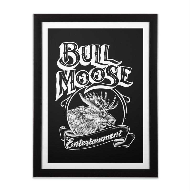 Bull Moose Logo - For Darks Home Framed Fine Art Print by thebullmoose's Artist Shop