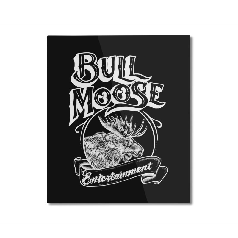 Bull Moose Logo - For Darks Home Mounted Aluminum Print by thebullmoose's Artist Shop