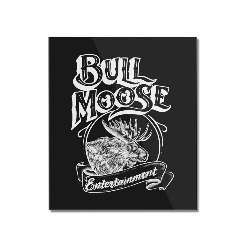 Bull Moose Logo - For Darks Home Mounted Acrylic Print by thebullmoose's Artist Shop