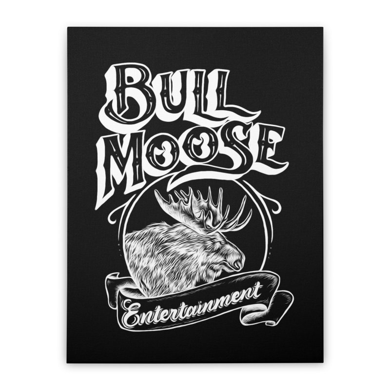 Bull Moose Logo - For Darks Home Stretched Canvas by thebullmoose's Artist Shop