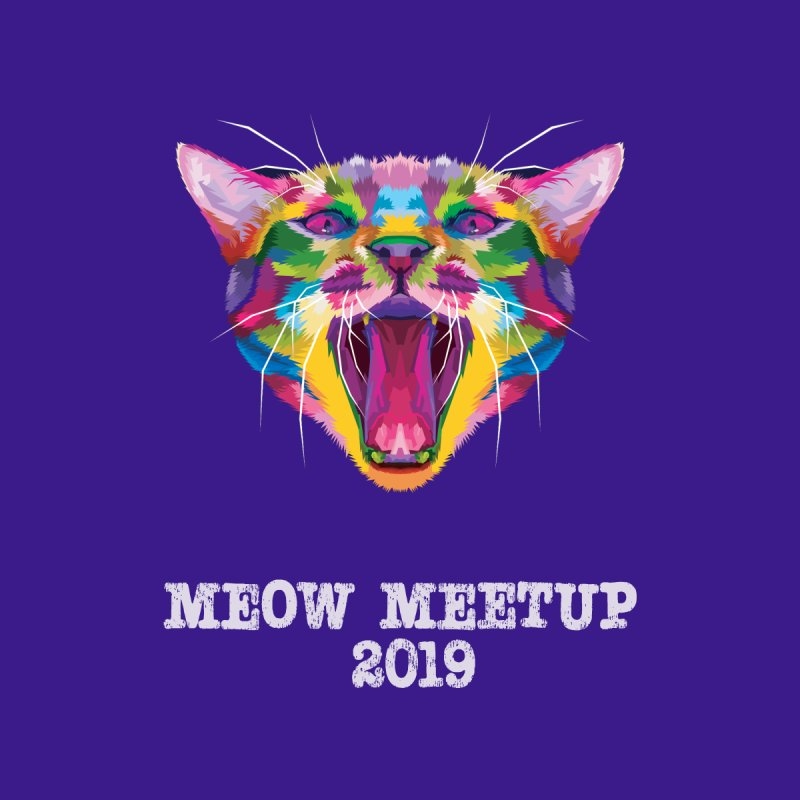 Meow MeetUp Official Women's T-Shirt by The Catnip Times Swag Shop