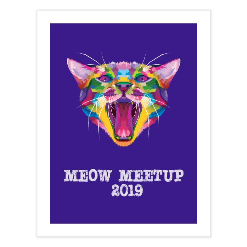 Meow MeetUp Official Home Fine Art Print by The Catnip Times Swag Shop
