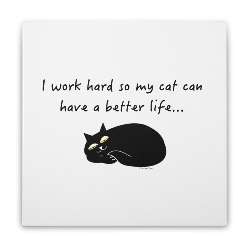 Wesley (Black) Home Stretched Canvas by The Catnip Times Swag Shop