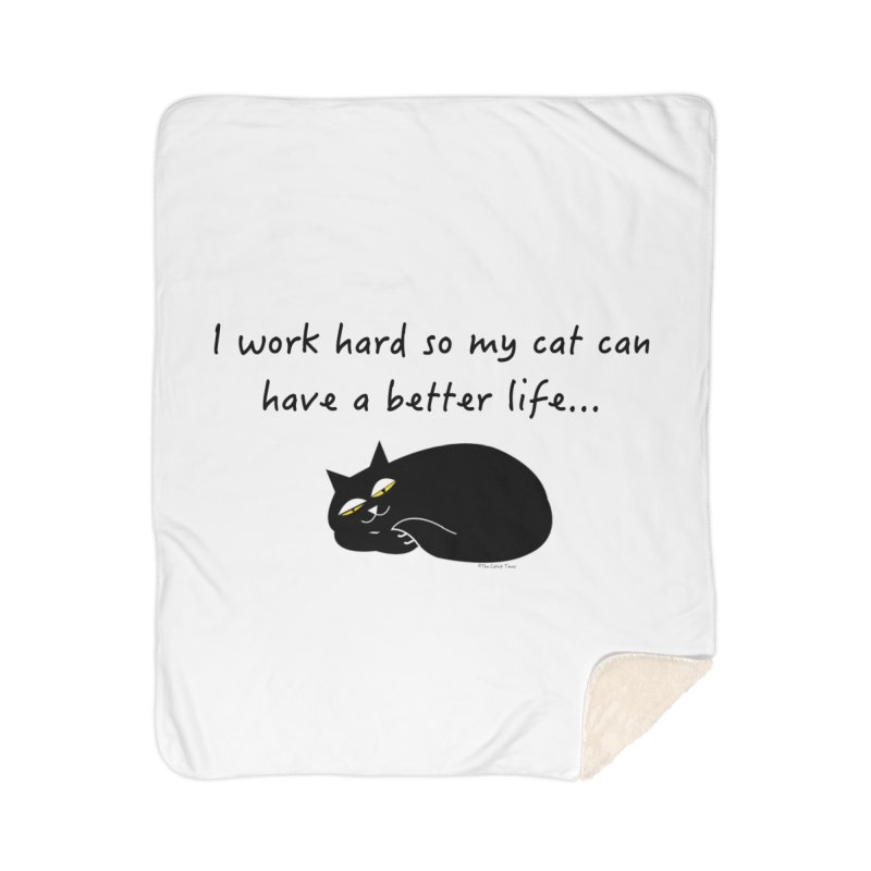 Wesley (Black) Home Blanket by The Catnip Times Swag Shop