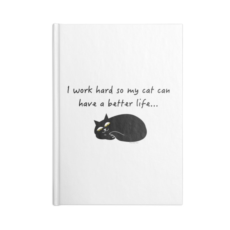 Wesley (Black) Accessories Notebook by The Catnip Times Swag Shop