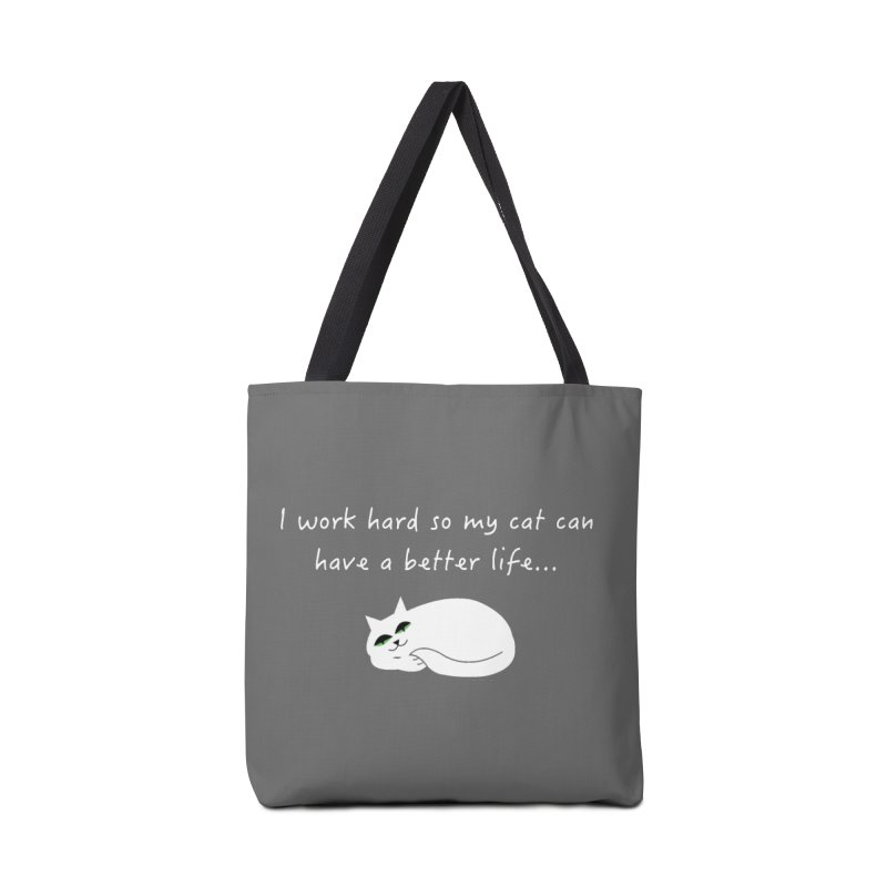 Wesley (white) Accessories Bag by The Catnip Times Swag Shop