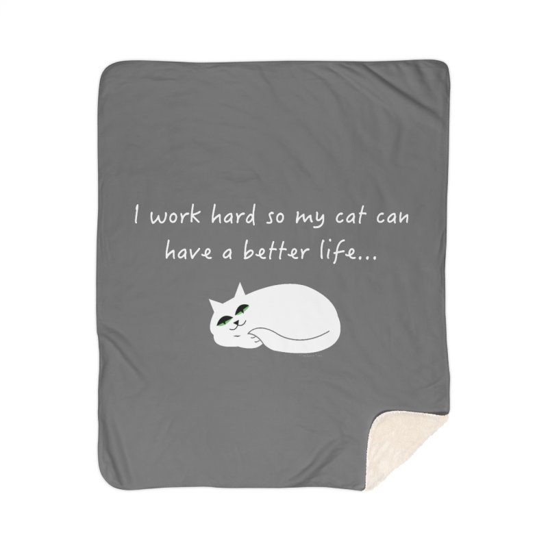 Wesley (white) Home Blanket by The Catnip Times Swag Shop