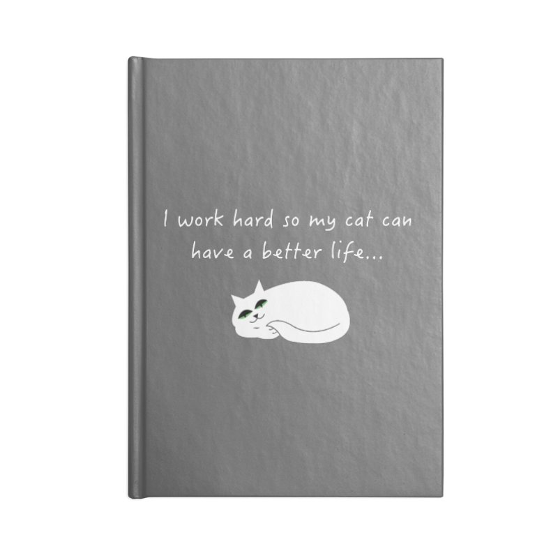 Wesley (white) Accessories Notebook by The Catnip Times Swag Shop