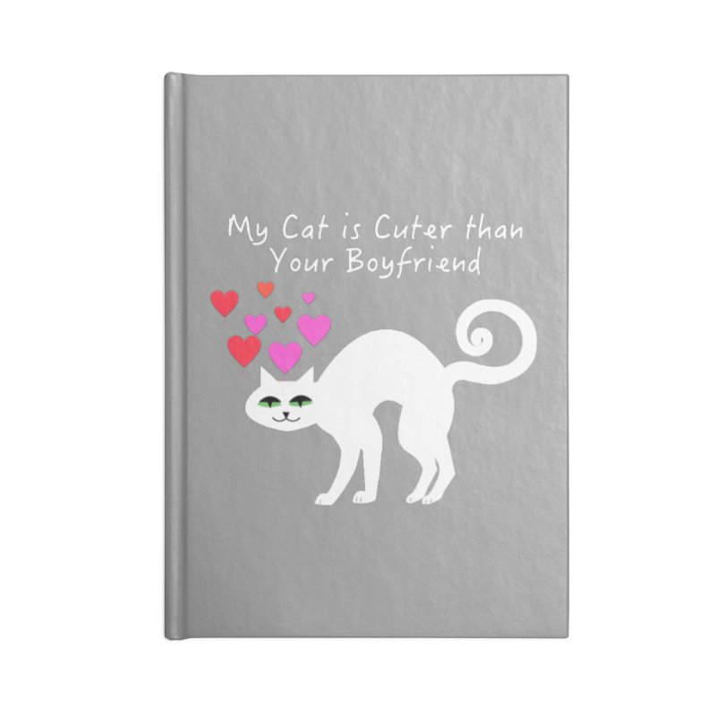 Romeo (White) Accessories Notebook by The Catnip Times Swag Shop
