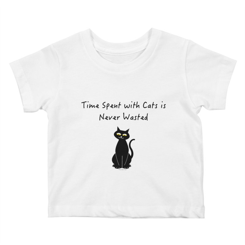Tabitha (Black) Kids Baby T-Shirt by The Catnip Times Swag Shop