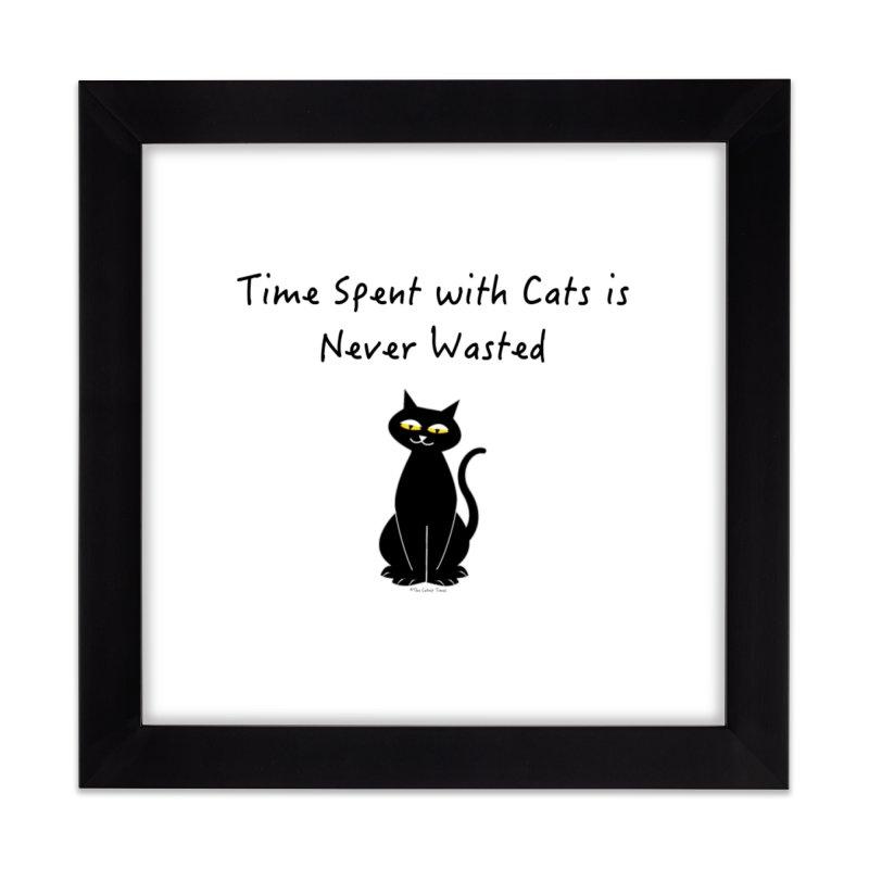 Tabitha (Black) Home Framed Fine Art Print by The Catnip Times Swag Shop