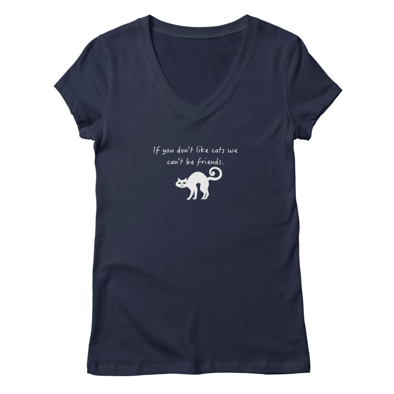 Don't Like Cats, We Can't Be Friends Women's V-Neck by The Catnip Times Swag Shop