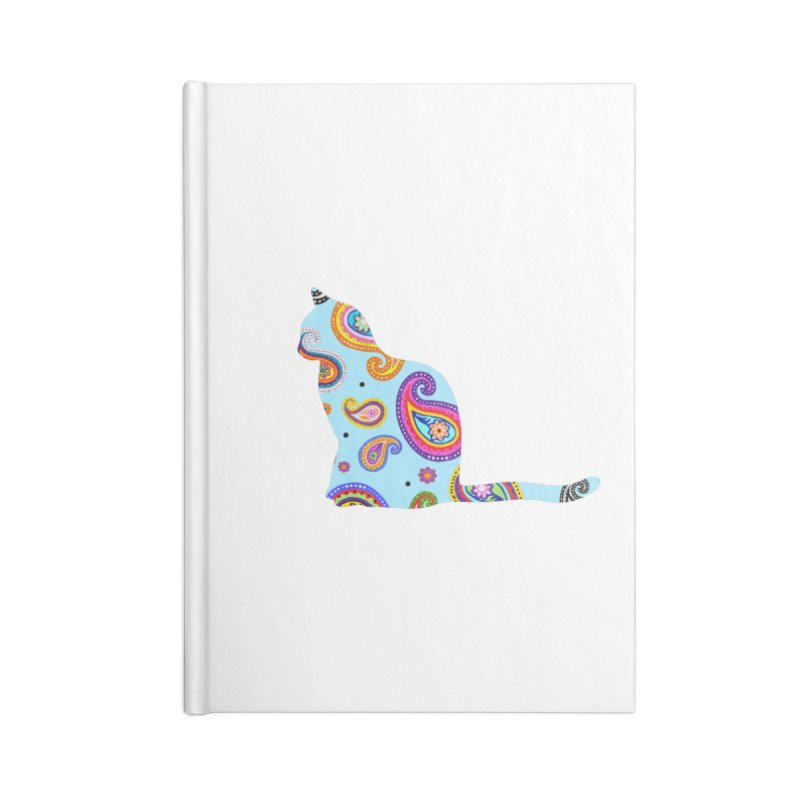 Purrfectly Paisley - Light Blue Accessories Notebook by The Catnip Times Swag Shop