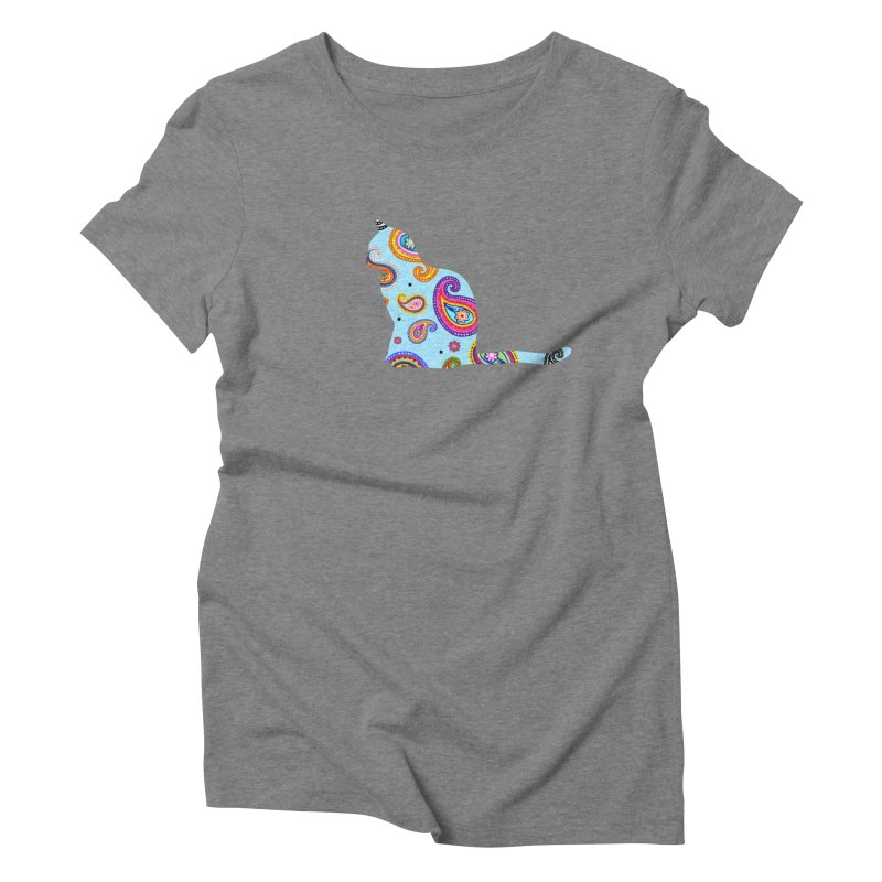 Purrfectly Paisley - Light Blue Women's T-Shirt by The Catnip Times Swag Shop