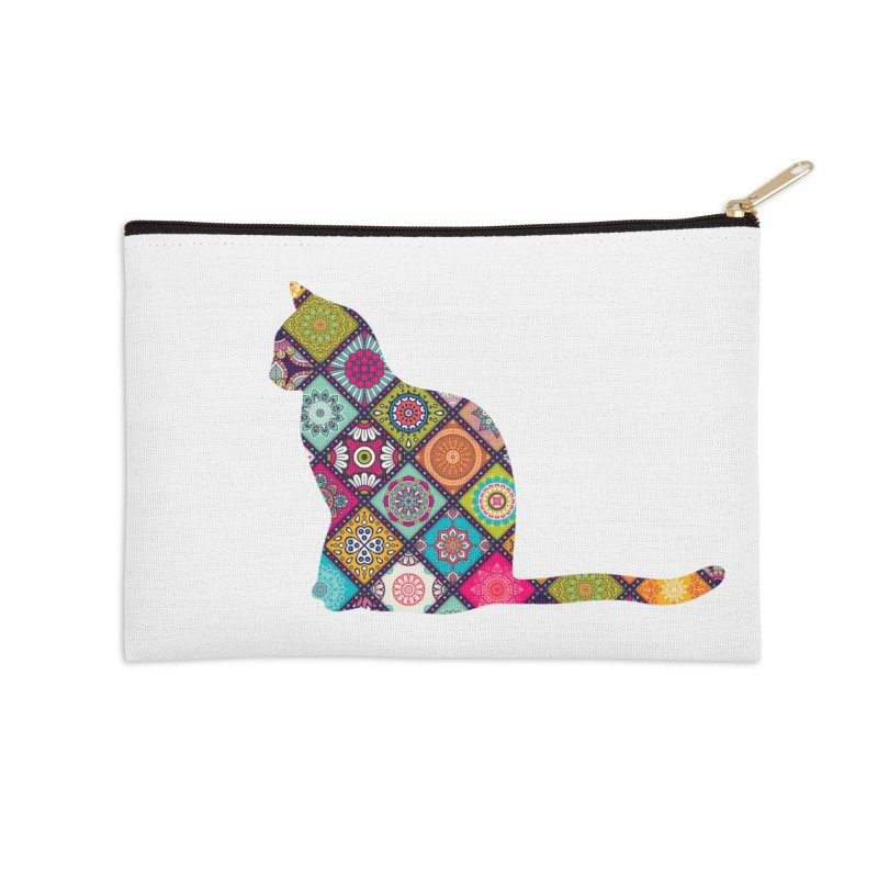 Boho Meowdallions Accessories Zip Pouch by The Catnip Times Swag Shop