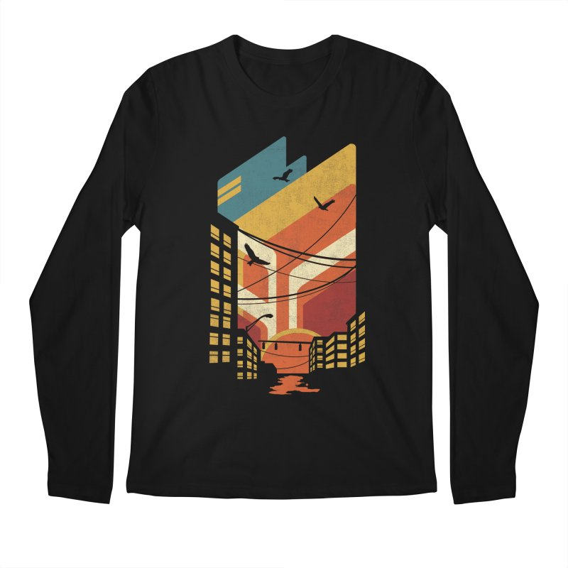 Setting Sun 1971 Men's Longsleeve T-Shirt by The Child's Artist Shop