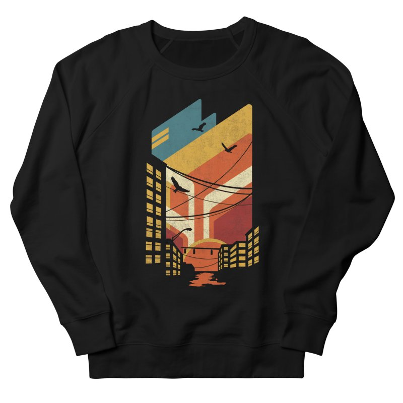 Setting Sun 1971 Men's Sweatshirt by The Child's Artist Shop