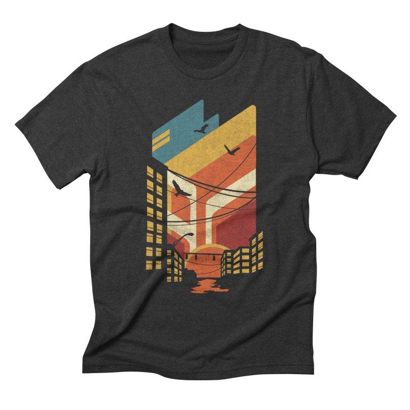 Setting Sun 1971 Men's Triblend T-Shirt by The Child's Artist Shop