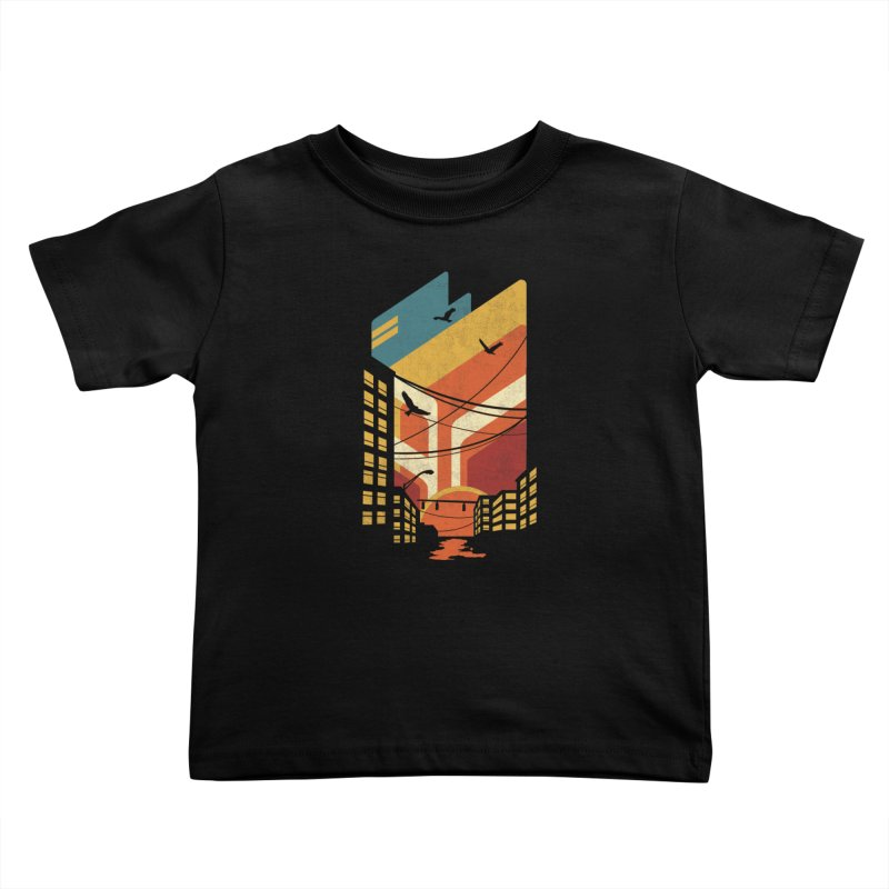 Setting Sun 1971 Kids Toddler T-Shirt by The Child's Artist Shop