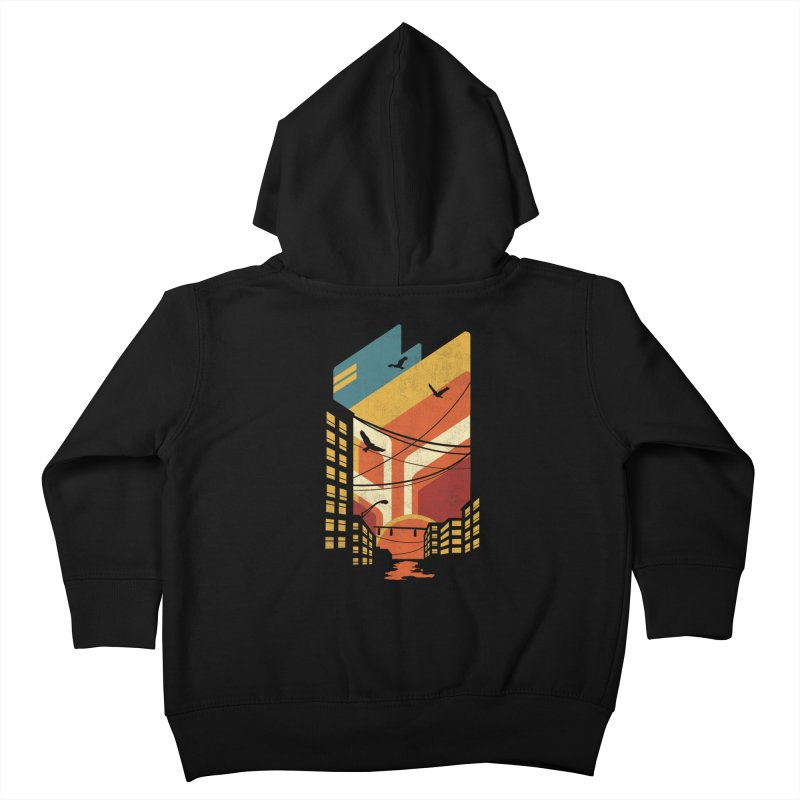 Setting Sun 1971 Kids Toddler Zip-Up Hoody by The Child's Artist Shop