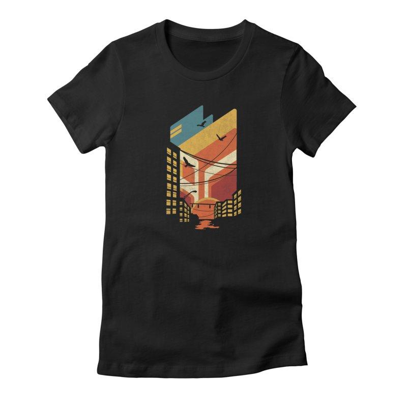 Setting Sun 1971 Women's T-Shirt by The Child's Artist Shop