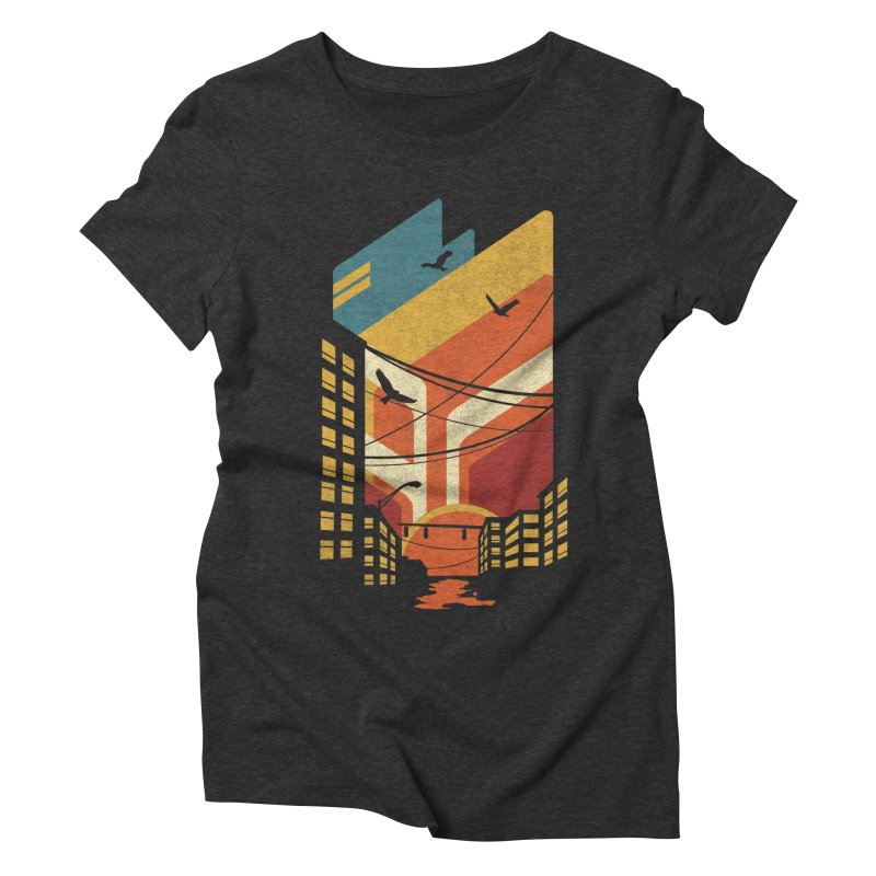 Setting Sun 1971 Women's Triblend T-shirt by The Child's Artist Shop