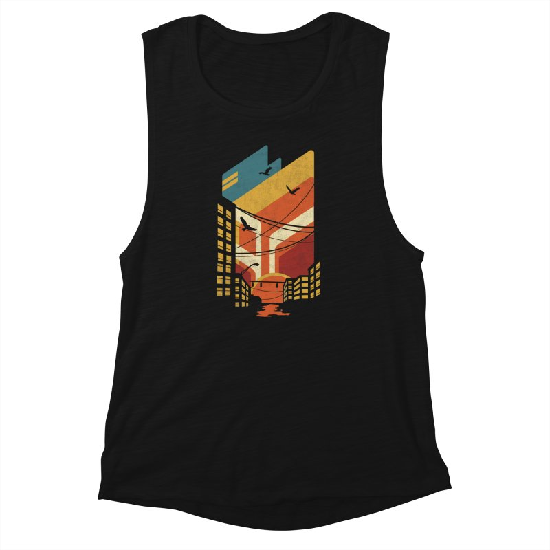 Setting Sun 1971 Women's Muscle Tank by The Child's Artist Shop