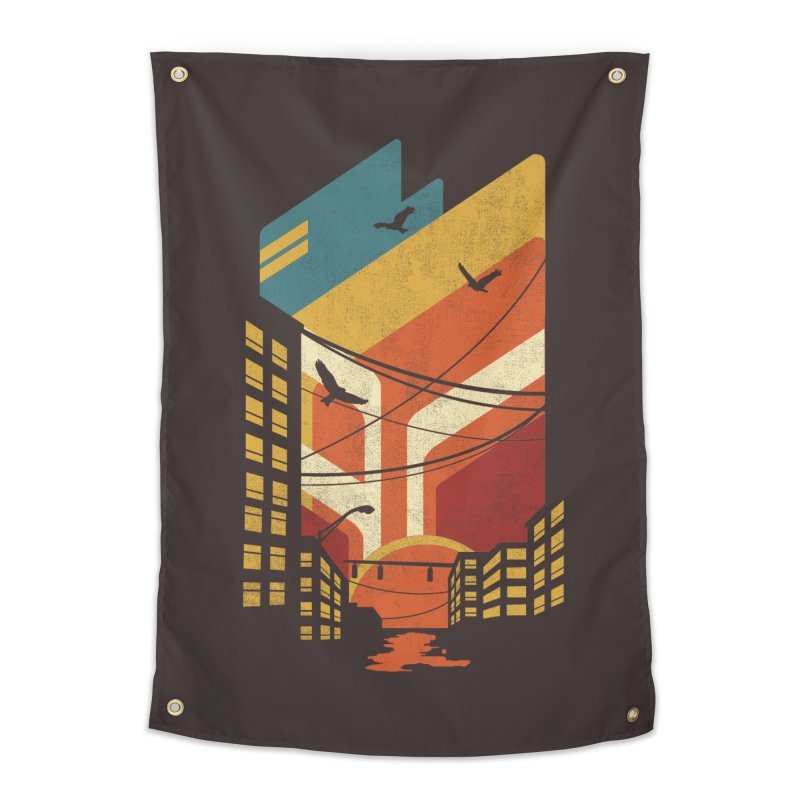 Setting Sun 1971 Home Tapestry by The Child's Artist Shop