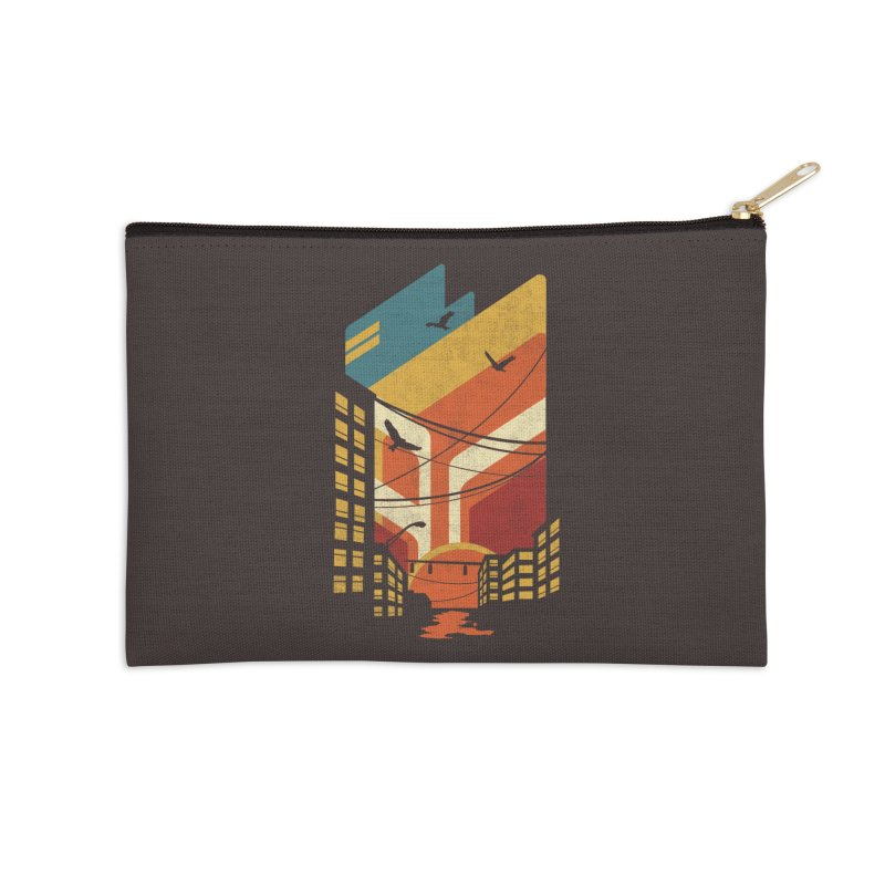 Setting Sun 1971 Accessories Zip Pouch by The Child's Artist Shop