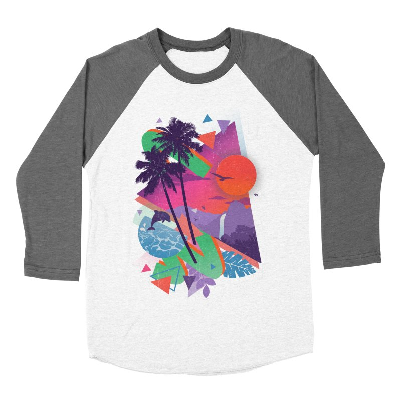 Tropix96 Men's Baseball Triblend T-Shirt by The Child's Artist Shop