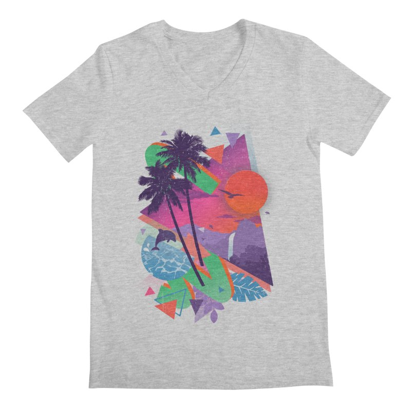 Tropix96 Men's V-Neck by The Child's Artist Shop