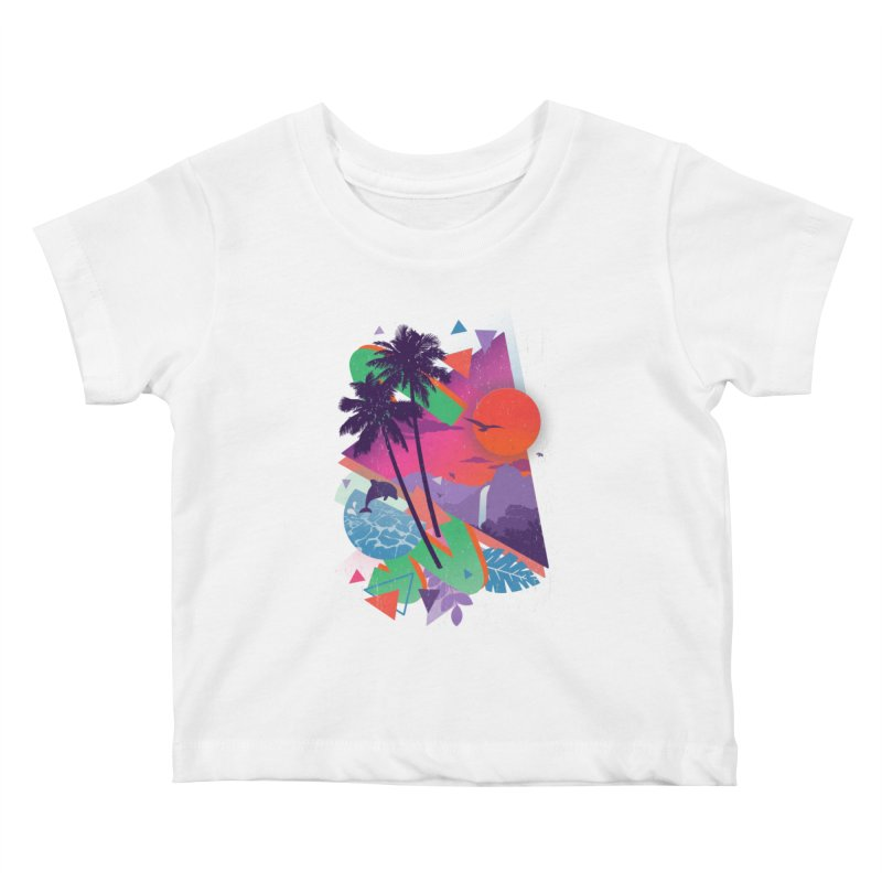 Tropix96 Kids Baby T-Shirt by The Child's Artist Shop