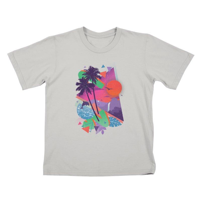 Tropix96 Kids T-shirt by The Child's Artist Shop