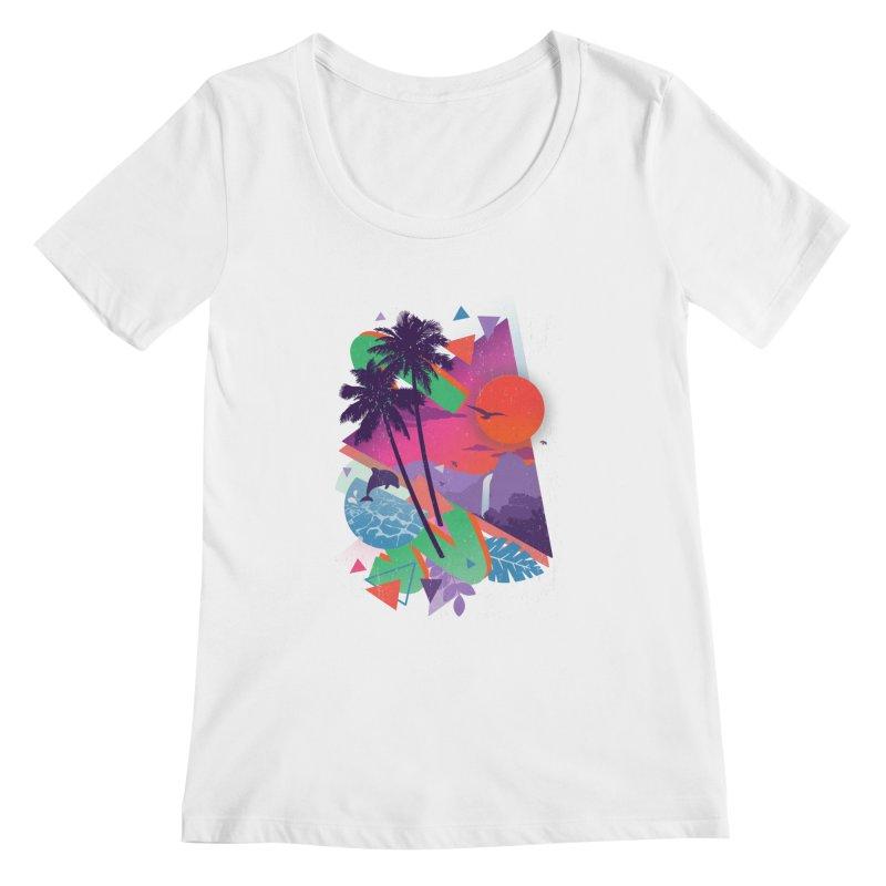 Tropix96 Women's Scoopneck by The Child's Artist Shop