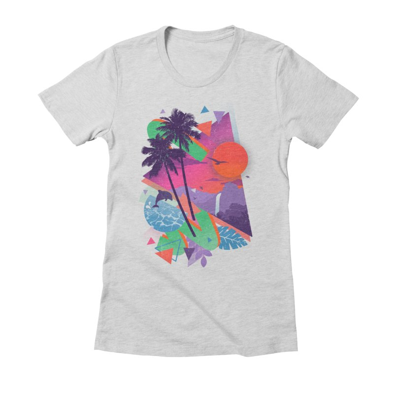 Tropix96 Women's Fitted T-Shirt by The Child's Artist Shop