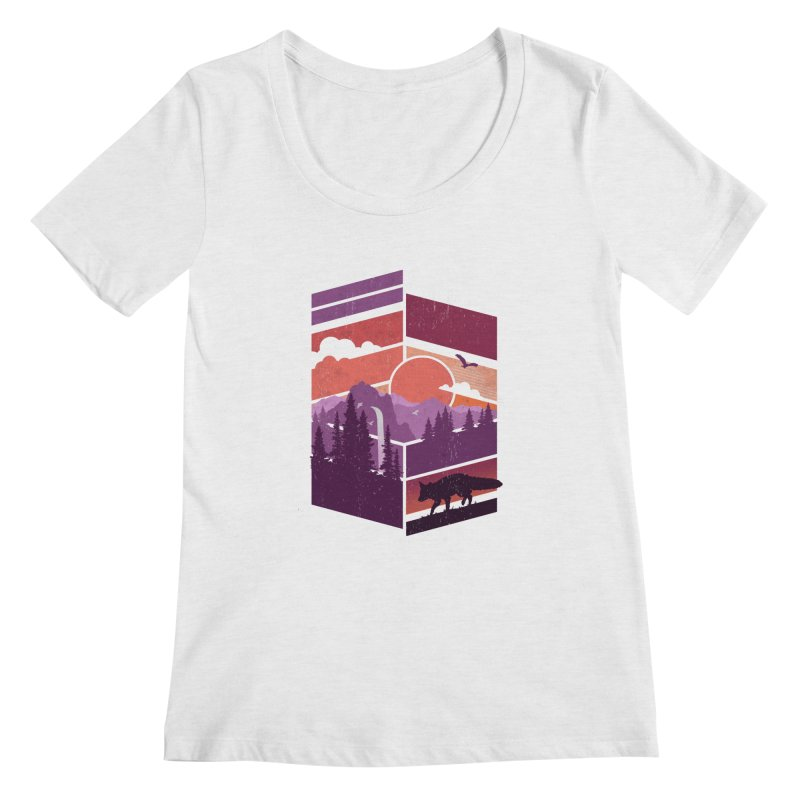Vanishing Point Women's Scoopneck by The Child's Artist Shop