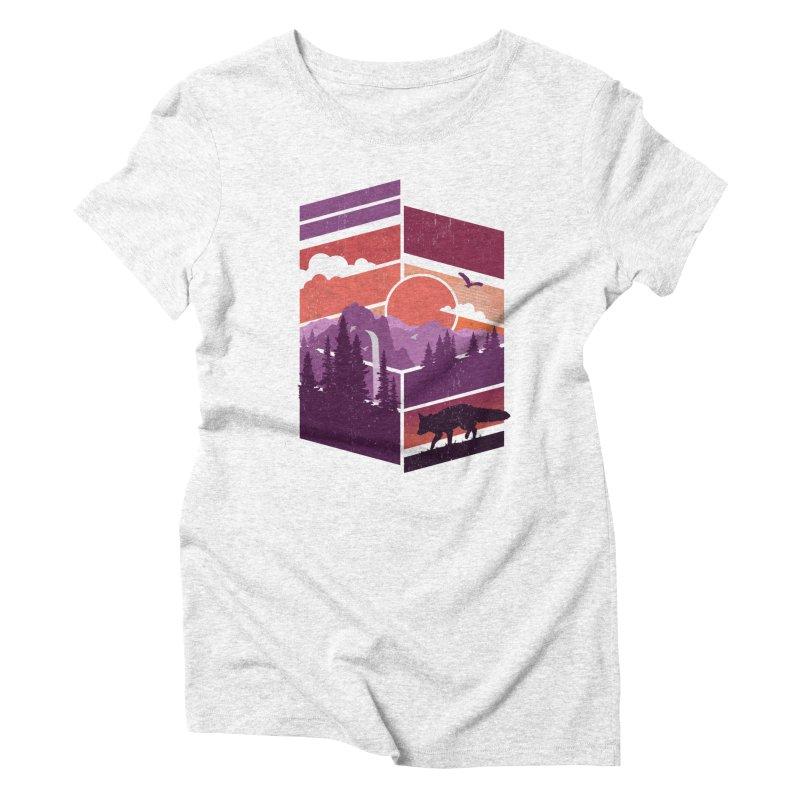 Vanishing Point Women's Triblend T-shirt by The Child's Artist Shop