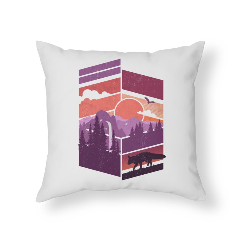Vanishing Point Home Throw Pillow by The Child's Artist Shop